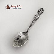 Utah Souvenir Spoon Mormon Temple Bowl Shepard Sterling Silver 1900