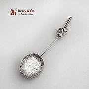 Water Lily Figural Teaspoon Handmade Sterling Silver 1950