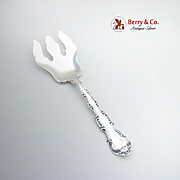 Strasbourg Salad Serving Fork Gorham New Sterling Silver 1950