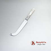 Vintage Fruit Knife Pick Pickle Fork Set Mother Of Pearl Stainless