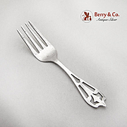 Vintage Baby Fork Openwork Handle Weidlich Sterling Silver 1940