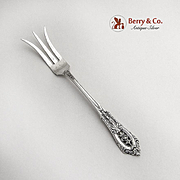 Rose Point Lemon Fork Wallace Sterling Silver 1934