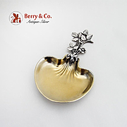 Christofle French Bonbonniere Gilt Bowl Floral Handle Silverplate