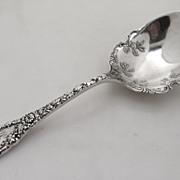 Chrysanthemum Large Serving Spoon Sterling Silver 1893