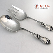 Lily Frank Whiting Salad Set Sterling Silver 1935 No Monograms