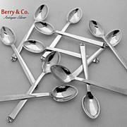 Evald Nielsen 11 Demitasse Spoons 830 Silver No 28