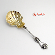 Berry Spoon King Edward Whiting Patent 1901 Sterling Silver No Monogram