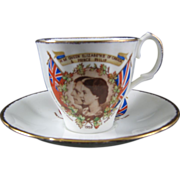 Bone China Cup & Saucer Royal Visit To Canada In 1959 To OPEN SEAWAY