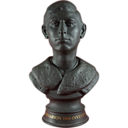 Royal Doulton Black Basalt Bust of Prince Charles Made in 1969 for Investiture No. 57 ...