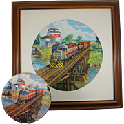 Original Painting by Famous Railroad Artist Ted Xaras - Tomorrow's Memories Original for a Col
