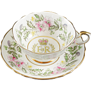 SOLD Paragon Fine Bone China Cup & Saucer Made To Commemorate the Cornonation of Queen Elizabe