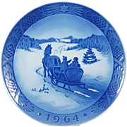 1964 Royal Copenhagen Christmas Plate - Fetching The Christmas Tree