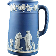 WEDGWOOD Portland Blue Jasperware Milk Pitcher