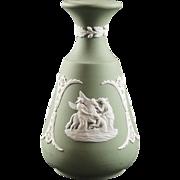 Wedgwood Sage Green Jasperware Cameo Bud Vase