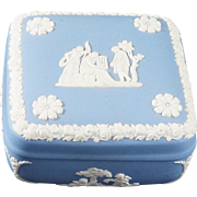 WEDGWOOD Pale Blue Jasperware Square Bon Bon