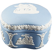 WEDGWOOD Pale Blue Jasperware Bean  Bon Bon