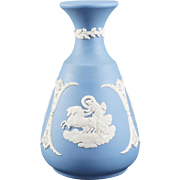 Wedgwood Pale Blue Jasperware Cameo Bud Vase