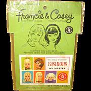 SOLD Barbie Doll Francie & Casey Dress Maker Mattle