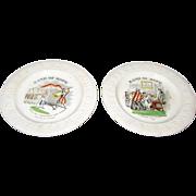2 Band Of Hope ABC Plates 19th Century