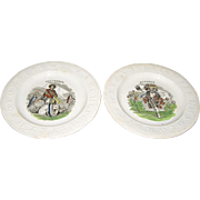 2 ABC Plates 19th Century October September