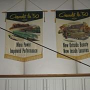 1950 Chevrolet Dealer Showroom Silk Banners Set of 5 signs