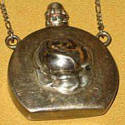 SOLD Silver Scent Bottle an Necklace