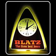 SALE Vintage 1970 Blatz Beer Light & Clock Runs & Works