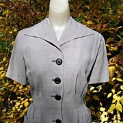 40's 50's Vintage Tailored Dress for the Modern Office Girl