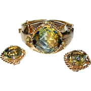 Sarah Coventry Versailles Bracelet & Earrings, 60's Rhinestone Demi
