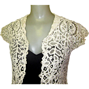 Edwardian Battenburg Lace Blouse, Downton Abby Vintage