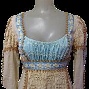 60's Gunne Sax Dress, Black Label, Medieval Renaissance Formal