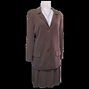 Designer Rayon Suit, 80's German Material, Skirt & Jacket