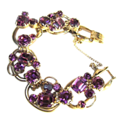 Juliana Rhinestone 5 Link Bracelet, Over the Top Purple D&E