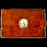 Vintage Cigarette Case, Skeleton Watch, Birds Eye Maple