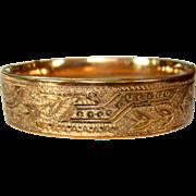 Victorian Bangle Bracelet, Rose Gold Filled & Rolled