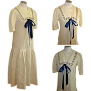 Laura Ashley Sailor Dress, Vintage Edwardian Revival