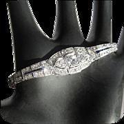 SALE Diamond Bracelet, Platinum & Sapphire, Art Deco 1930's