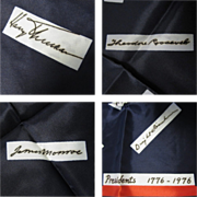 Bicentennial Scarf, 1776-1976 Presidents Signatures