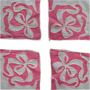 Vintage Handkerchief, Embroidered Floral