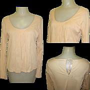 Boho Peasant Blouse, Cotton 80's Vintage Shirt