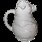 Vintage Pig Water Pitcher, USA Pottery