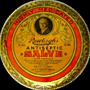 Vintage Tin,  Rawleigh's Antiseptic Salve, Art Nouveau Litho