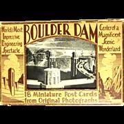 Boulder Dam Postcard Pack, 1936 Opening, 18 Miniature