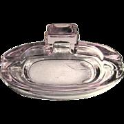 SALE PENDING Lavender Glass Ash Tray / Soap Dish,Vintage Antique