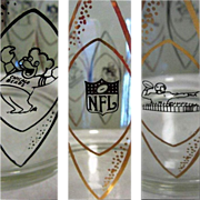 NFL Ice Bucket, Hedy Vintage 1960 Hazel Atlas Glass