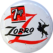 Zorro Button, Disney, 1957 TV Show