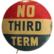 FDR / Willkie Election Button, 1940, Bastian Brothers