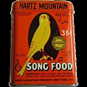 Song Bird Food Tin, 50's Hartz Mountain