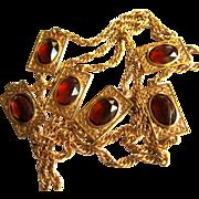60's Crystal Chain, Bezel Set in Filigree Frames