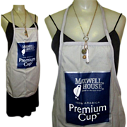 Maxwell House Coffee Apron, Vintage, Mint